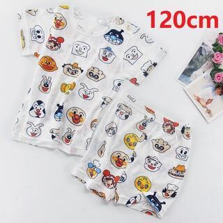 アンパンマンパジャマ ルームウェア  半袖 半ズボン ベビー キッズ 120cm(パジャマ)