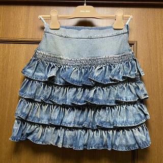 miumiu - miu miu デニムスカート 36 XS 直営店購入 未使用品