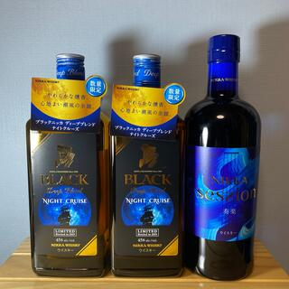 ニッカウイスキー(ニッカウヰスキー)のニッカ ナイトクルーズ2本 セッション1本 合計3本 送料無料(ウイスキー)
