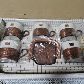ORIENTコーヒーセット角型ブロンズ仕上5客(グラス/カップ)