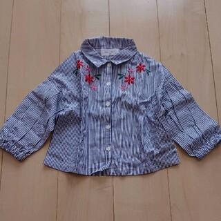ウィルメリー(WILL MERY)の新品 ウィルメリー 刺繍 ブラウス ストライプ 検)プティマイン ブランシェス (Tシャツ/カットソー)