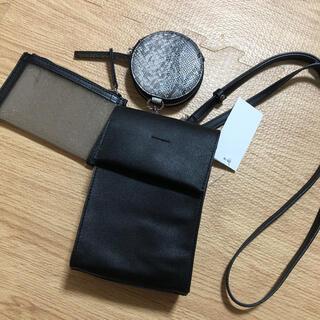 シマムラ(しまむら)のしまむら 3レンマルチスクエア 中黒 ブラック 新品未使用 タグ付き(ショルダーバッグ)