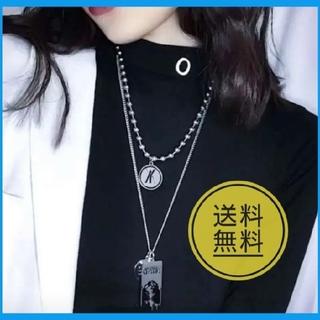 大人気 韓国 ボールチェーン 2連 ネックレス メンズ レディース シンプル