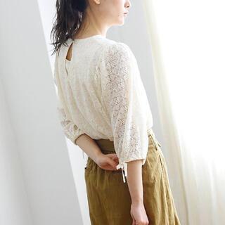 クリスプ(Crisp)のCrisp puff lace blouse ivory(シャツ/ブラウス(長袖/七分))