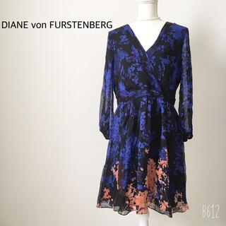 DIANE von FURSTENBERG - ダイアンフォンファステンバーグ カシュクールワンピース シルク12