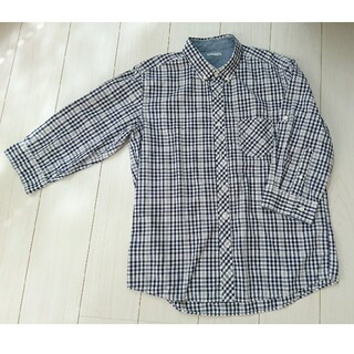 ジーユー(GU)のジーユー 七分袖チェックシャツ XL(シャツ)
