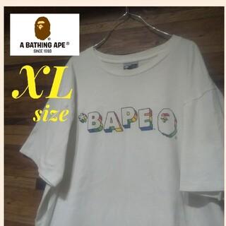 A BATHING APE - A BATHING APEベイシングエイプ プリント Tシャツ