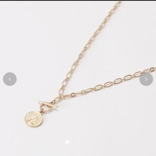 シマムラ(しまむら)の新品未使用タグ付☆terawear emu てらさん コインモチーフ ネックレス(ネックレス)