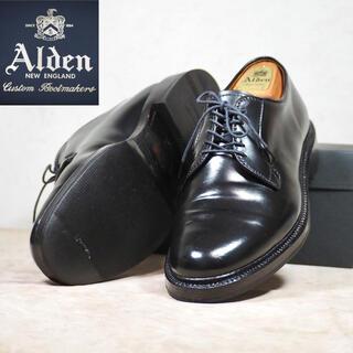 Alden - 9901 Alden 8.5E オールデン コードバン ブラック プレーントゥ