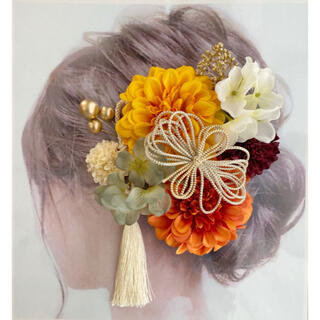愛らしい髪かざり 袴 卒業式 結婚式 成人式 髪飾り 成人式髪飾り 和装(ヘッドドレス/ドレス)