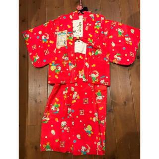 昭和のレトロ デッドストック 未使用 可愛い女の子 着物 着丈77cm(和服/着物)