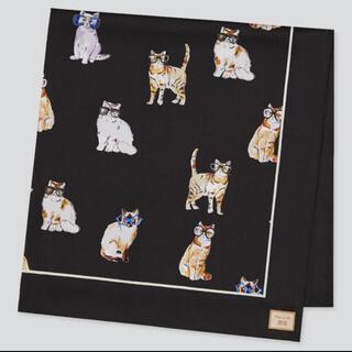 UNIQLO - ユニクロ ポール&ジョー スカーフ 黒 猫 ネコ