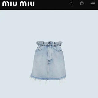 miumiu - ミュウミュウ デニムスカート