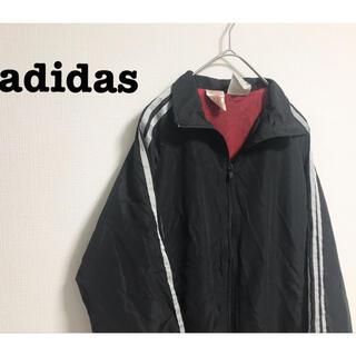 adidas - 古着 adidas アディダス ナイロンジャケット ラインブルゾン