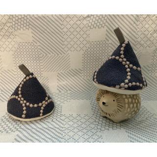 ミナペルホネン mina perhonen 鍋つかみ 三角鍋つかみ ハンドメイド(キッチン小物)