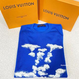 ルイヴィトン(LOUIS VUITTON)の国内正規品 美品 ルイヴィトン クラウド ジャカート 半袖 Tシャツ ニット!(Tシャツ/カットソー(半袖/袖なし))