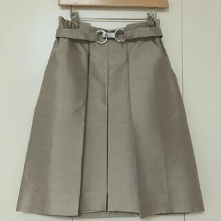 セリーヌ(celine)のCELINE シルク スカート(ひざ丈スカート)