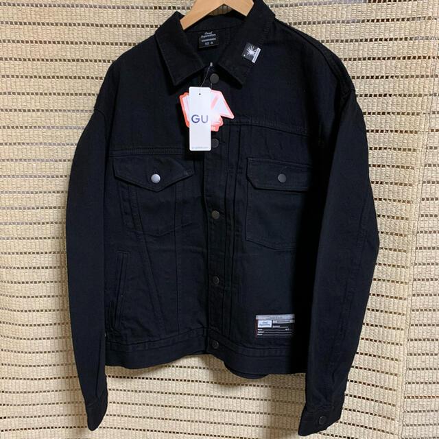 MIHARAYASUHIRO(ミハラヤスヒロ)の新品未使用 GU ミハラヤスヒロ デニムジャケットMY ブラック M メンズのジャケット/アウター(Gジャン/デニムジャケット)の商品写真