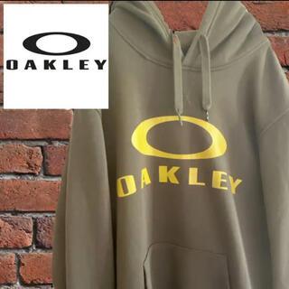 オークリー(Oakley)の【希少色】OAKLEY オークリー スウェットパーカー L デカロゴ カーキ(パーカー)