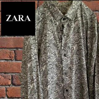 ザラ(ZARA)のビッグシルエット◆ZARA ザラ 総柄シャツ ペイズリー XL以上 古着男女(シャツ)