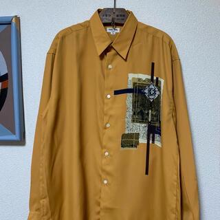 ART VINTAGE - 90s レトロシャツ アートシャツ アシンメトリー ポリシャツ 総柄 菅田将暉