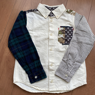 BREEZE☆異素材ドッキングシャツ 130㎝