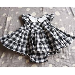 プティマイン(petit main)の西松屋 ELFINDOLL ギンガムチェック柄 チュニック パンツ 90(スカート)