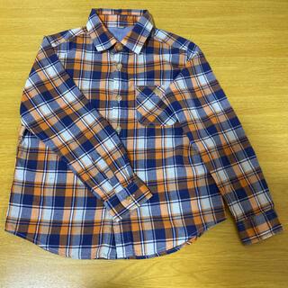 ユニクロ(UNIQLO)のUNIQLO チェック柄シャツ 130cm(Tシャツ/カットソー)