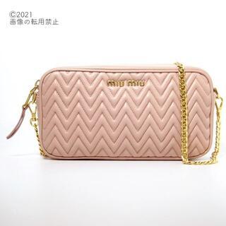 miumiu - 【美品】miumiu ロング チェーン ベージュ・ピンク ショルダー バッグ