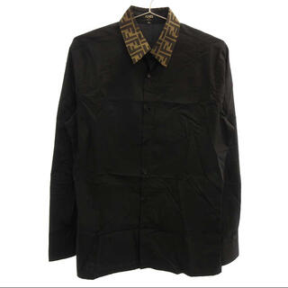 FENDI - 【ラクマ期間限定価格!】 FENDI ズッカ柄 コットン長袖シャツ