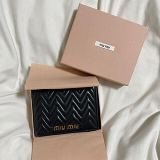 miumiu - MIUMIU マテラッセ 折り財布 ブラック