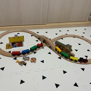 MICKY社 8の字レール 汽車セット+α(電車のおもちゃ/車)