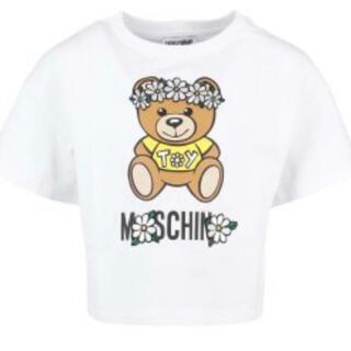 モスキーノ(MOSCHINO)の【新作】モスキーノ 花冠ベア ホワイト 14  ラスト1点となりました!(Tシャツ(半袖/袖なし))
