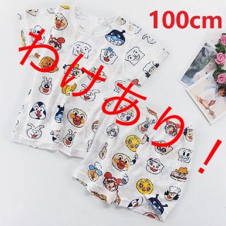 アンパンマンパジャマ ルームウェア  半袖 半ズボン ベビー キッズ 100cm(パジャマ)