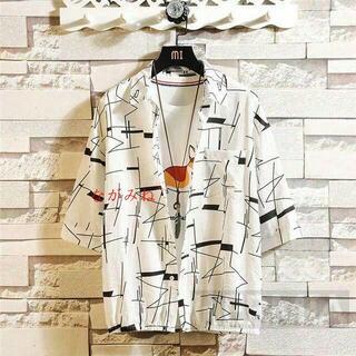 カジュアルシャツ メンズ おしゃれ 半袖シャツ 夏 大きいサイズ7(Tシャツ(半袖/袖なし))