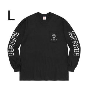 シュプリーム(Supreme)のSUPREME south2 west8 L/S tee black L(Tシャツ/カットソー(七分/長袖))