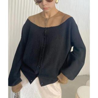 glitter sheer docking knit(ニット/セーター)