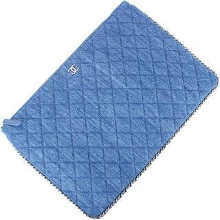 シャネル(CHANEL)のCHANEL バッグ レディース ブルー 新品 デニム シャネル 1139(クラッチバッグ)