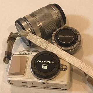 OLYMPUS - OLYMPUS PEN E-PL7 望遠レンズ一式セット 専用ストラップ付き