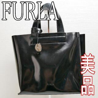 Furla - 美品 フルラ FULRA トートバッグ ブラック 黒