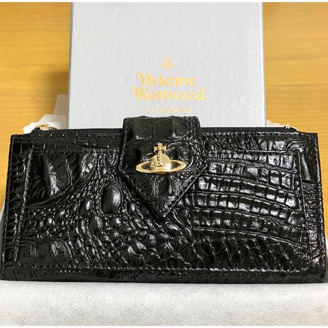 Vivienne Westwood(ヴィヴィアンウエストウッド)の【新品未使用】Vivienne Westwood  レザー長財布 クロコ型押し レディースのファッション小物(財布)の商品写真
