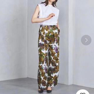 Ameri VINTAGE - ELIN Floral 2-tuck pants エリン 花柄ワイドパンツ