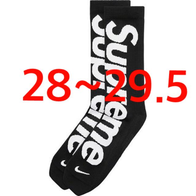 Supreme(シュプリーム)のSupreme Nike Crew Socks 28~29.5cm 靴下 黒 メンズのレッグウェア(ソックス)の商品写真