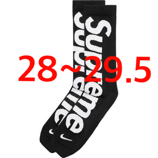 Supreme - Supreme Nike Crew Socks 28~29.5cm 靴下 黒