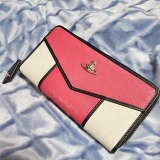 ヴィヴィアンウエストウッド(Vivienne Westwood)のVivienne Westwood 長財布 ピンク×ホワイト×ブラック(財布)