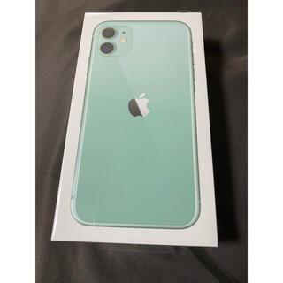 iPhone - iPhone 11 グリーン 128 GB SIMフリー 未使用