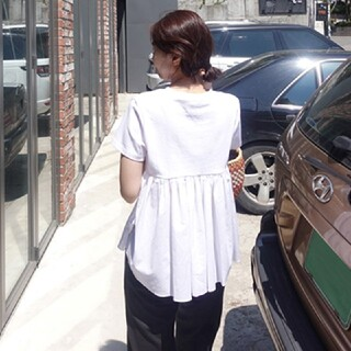 ZARA - バックフリル Tシャツ