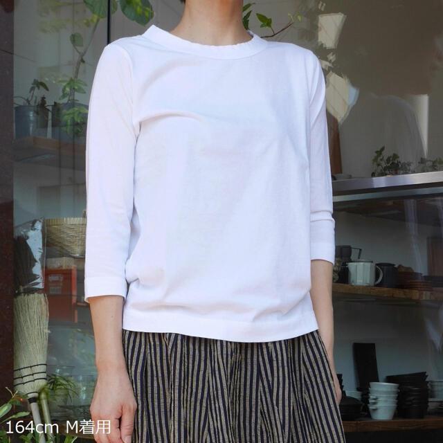 FRAMeWORK(フレームワーク)のホームスパン 七分袖 Tシャツ homspun レディースのトップス(Tシャツ(長袖/七分))の商品写真