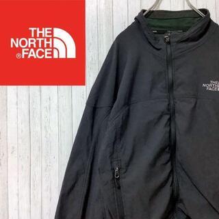 THE NORTH FACE - ノースフェイス ナイロンジャケット ジップアップ 黒 APEX バックロゴ L