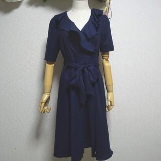 STRAWBERRY-FIELDS - 新品 タグ付き M ストロベリーフィールズ 濃紺 カシュクール 美人 ワンピース